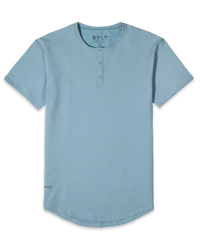Henley Drop-Cut - 2019 Style - (FINAL SALE) Sky Blue