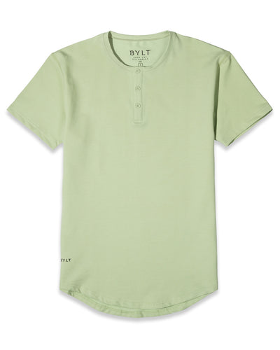 Henley Drop-Cut: LUX Spring Green
