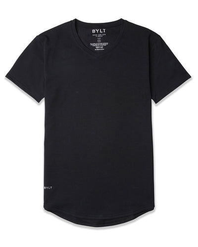 Drop-Cut V-Neck: LUX Black