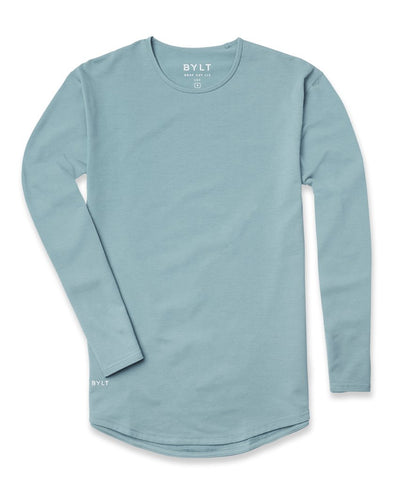 Drop-Cut Long Sleeve: LUX Slate