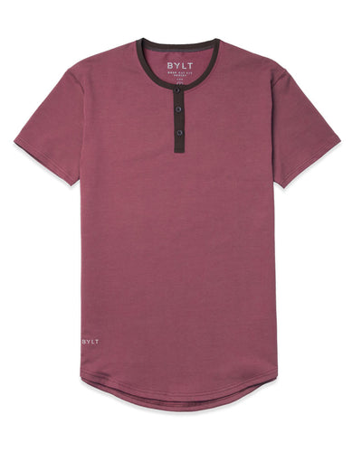 Henley Drop-Cut: LUX (FINAL SALE) Wine/Chocolate