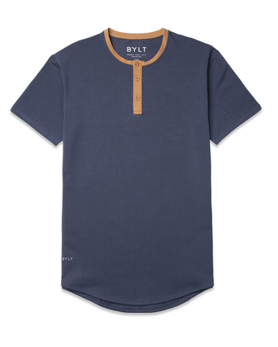 Henley Drop-Cut: LUX <!-- Size S --> Midnight Toast