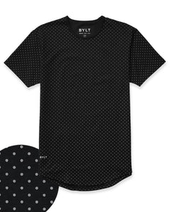 Black/Grey - Dotted Drop-Cut: LUX