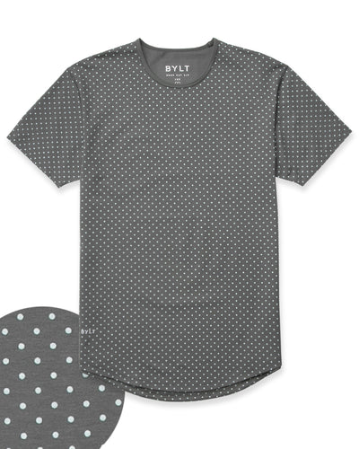 Dotted Drop-Cut: LUX Charcoal/Sea Breeze - Dotted Drop-Cut: LUX
