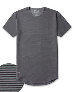 Stripe/Charcoal/Black - Drop-Cut LUX