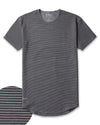 Drop-Cut: LUX <!-- Size S --> Stripe/Charcoal/Black - Drop-Cut LUX