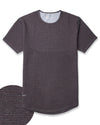 Drop-Cut: LUX <!-- Size M --> Stripe/Dark-Heather-Grey/Maroon - Drop-Cut LUX