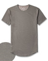 Drop-Cut: LUX <!-- Size S --> Stripe/Olive/Charcoal - Drop-Cut LUX