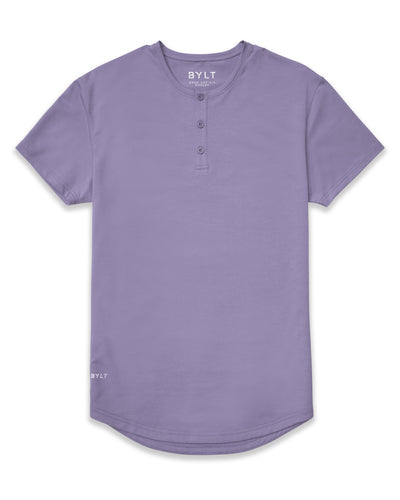 Henley Drop-Cut: LUX Gravel Henley Drop-Cut LUX Shirt