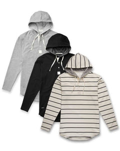 Hooded Henley-Bundle