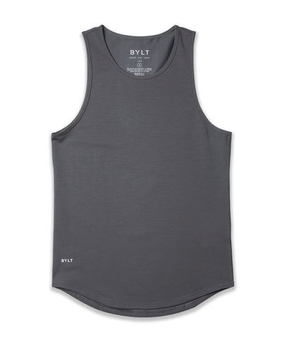 LUX Drop-Cut Tank Charcoal
