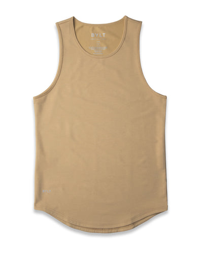 LUX Drop-Cut Tank Dune - LUX Drop-Cut Tank