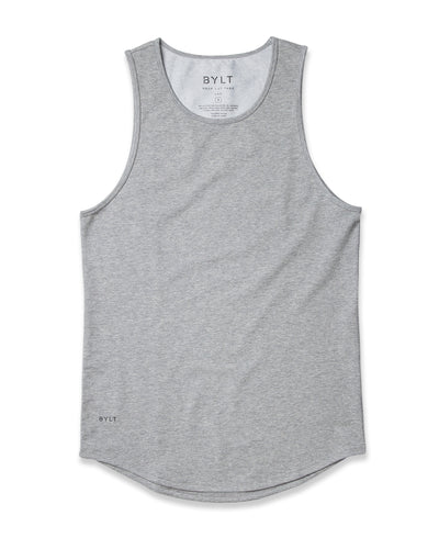 LUX Drop-Cut Tank Heather Grey