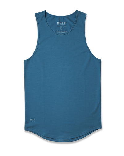 LUX Drop-Cut Tank Marine-Blue - LUX Drop-Cut Tank