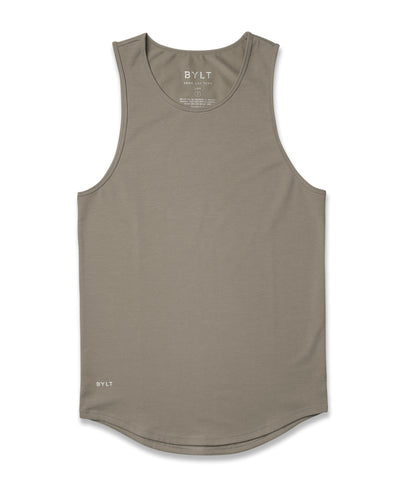 LUX Drop-Cut Tank Olive