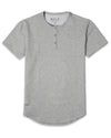 Henley Drop-Cut <!-- Size S --> Heather Grey