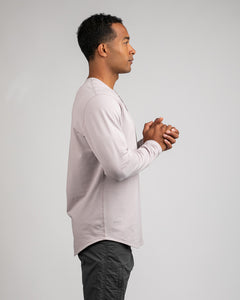 Iris - Henley Drop-Cut: LUX Long Sleeve