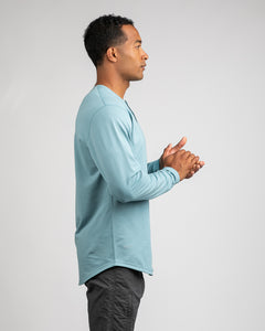 Slate - Henley Drop-Cut: LUX Long Sleeve