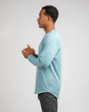 Henley Drop-Cut Long Sleeve: LUX Slate - Henley Drop-Cut: LUX Long Sleeve