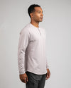 Henley Drop-Cut Long Sleeve: LUX Iris - Henley Drop-Cut: LUX Long Sleeve