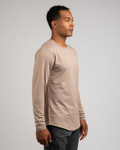 Sand - Drop-Cut: LUX Long Sleeve