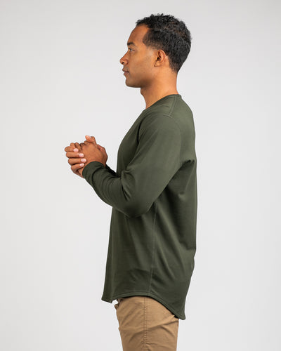 Drop-Cut Long Sleeve: LUX <!-- Size M --> Forest - Drop-Cut: LUX Long Sleeve