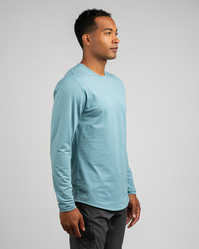 Drop-Cut Long Sleeve: LUX <!-- Size S --> Slate - Drop-Cut: LUX Long Sleeve