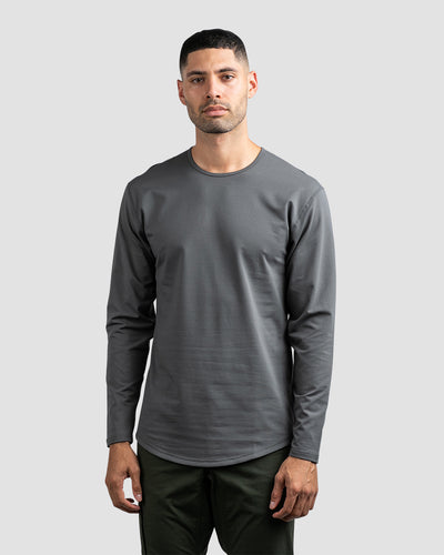 Drop-Cut Long Sleeve: LUX <!-- Size S --> Charcoal