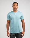 Henley Drop-Cut: LUX Slate - Henley Drop-Cut LUX Shirt