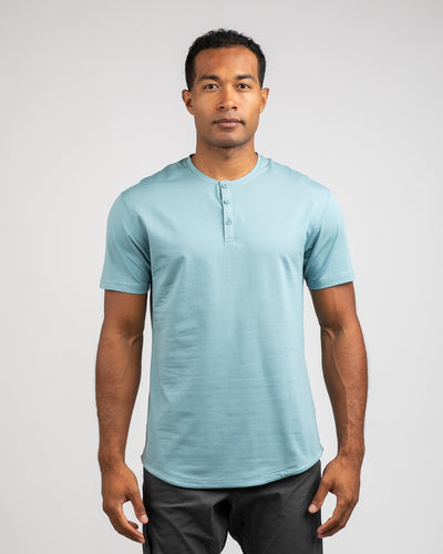 Slate - Henley Drop-Cut LUX Shirt