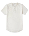 Henley Drop-Cut: LUX Bone -  Henley Drop-Cut LUX Shirt