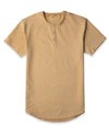Henley Drop-Cut: LUX Dune -  Henley Drop-Cut LUX