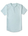 Henley Drop-Cut: LUX Sea Breeze -  Henley Drop-Cut LUX