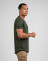 Drop-Cut V-Neck: LUX Forest - Drop-Cut V-Neck LUX