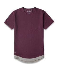Maroon/Olive Layer Drop-Cut LUX Shirt