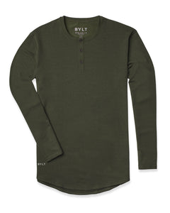 Forest - Henley Drop-Cut: LUX Long Sleeve