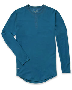Swell - Henley Drop-Cut: LUX Long Sleeve
