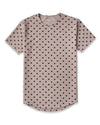 Drop-Cut: LUX Macrodot Sand/Maroon Drop-Cut LUX Macrodot Shirt