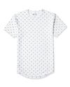 White/Grey Drop-Cut LUX Macrodot Shirt