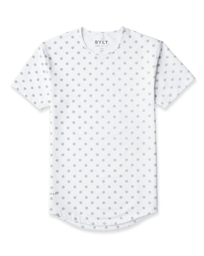 Drop-Cut: LUX Macrodot White/Grey Drop-Cut LUX Macrodot Shirt