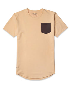 Almond/Chocolate - Drop-Cut LUX Pocket Shirt