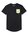 Drop-Cut: LUX Pocket <!-- Size XXL --> Black/Canary - Drop-Cut LUX Pocket Shirt