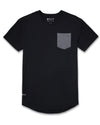 Drop-Cut: LUX Pocket <!-- Size XXL --> Black/Charcoal - Drop-Cut LUX Pocket Shirt