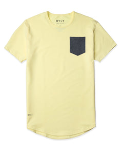Canary/Dark-Heather-Grey - Drop-Cut LUX Pocket Shirt