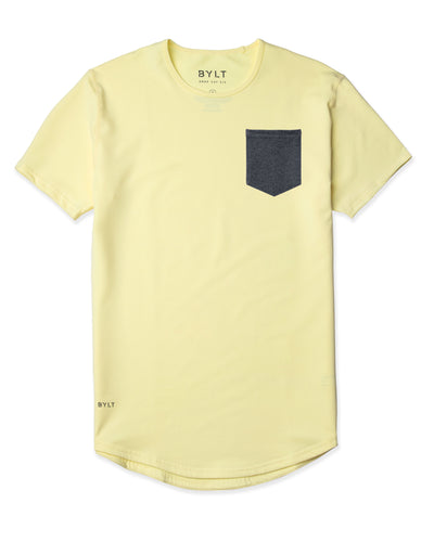 Drop-Cut: LUX Pocket Canary/Dark-Heather-Grey - Drop-Cut LUX Pocket Shirt
