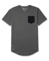 Drop-Cut: LUX Pocket <!-- Size XXL --> Charcoal/Black - Drop-Cut LUX Pocket Shirt