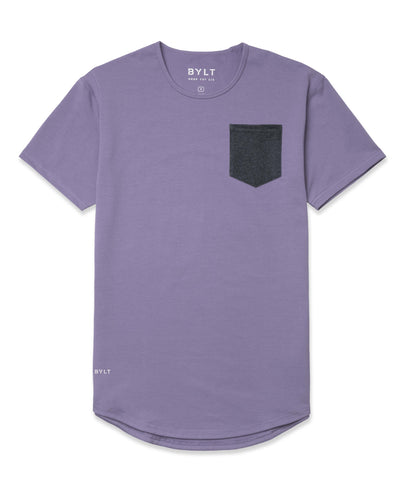 Drop-Cut: LUX Pocket <!-- Size XXL --> Gravel/Dark-Heather-Grey - Drop-Cut LUX Pocket Shirt