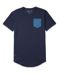 Navy/Marine-Blue - Drop-Cut LUX Pocket Shirt