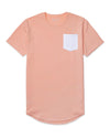 Drop-Cut: LUX Pocket <!-- Size XXL --> Pink Ice/White - Drop-Cut LUX Pocket Shirt