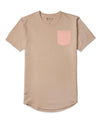 Sand/Pink Ice - Drop-Cut LUX Pocket Shirt